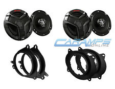 """NEW FRONT AND REAR JVC 6.5"""" 2-WAY CAR TRUCK STEREO SPEAKERS W/ MOUNTING BRACKETS"""