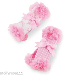 Baby Girl Set Of 2 Mud Pie Tiny Dancer Chiffon Ballerina Leg Warmers Socks