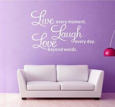 Live laugh love Wall Quotes decals Removable stickers decors Vinyl art ( large )