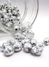 Aluminum Beads Oval 6x9mm 30pcs Silver Big Hole Spacer Bead Jewelry Making