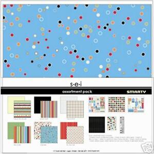 SEI SMARTY BOY Collection 12X12 Scrapbook Kit BIG New
