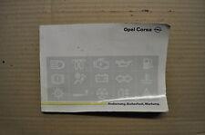 Bedienungsanleitung Handbuch Corsa B Opel Stand 10/94