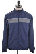 STARTER Mens Jacket Size 40 Medium Navy Blue Polyester