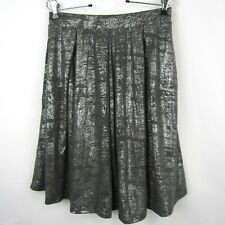 LuLaRoe Elegance Madison Metallic Gray Silver Skirt With Pockets Party