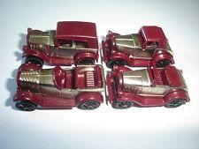 RED & CHROME VINTAGE MODEL CARS 1920's SET 1:87 H0 - KINDER SURPRISE MINIATURES