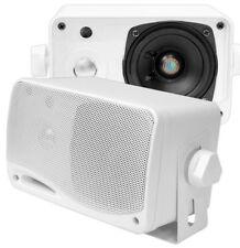 All Weather Speakers Mini Marine 3 Way Outdoor Boat Stereo 200 Watt Pool Deck