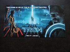 TRON LEGACY El Capitan Movie Program DISNEY  RARE SAM KEVIN FLYNN Jeff Bridges