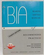 VINTAGE 1974 BOATING INDUSTRY ASSOCIATION B I A MARINE SERVICE MANUAL