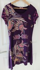 Joe Browns ~ Purple Floral dress/tunic with gemstones details ~Size 14