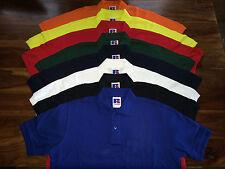 BNWT Mens Russell Workwear Hardwearing Pique Polo Shirt. Classic Red XXL E63