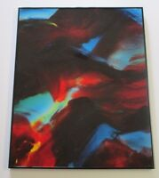 NICHOLAS MIRANDON RESIN PAINTING ABSTRACT EXPRESSIONISM NON OBJECTIVE VINTAGE