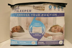 Copper Fit Angel Sleeper Standard Side Pillow For Side And Back