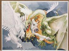 Unto The Death Print P.D. Breeding-Black Signed & Limited Ed ~ Fantasy Dragon