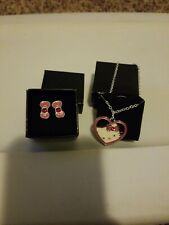 HELLO KITTY SWEETHEART BRACELET & EARRINGS SET:FREE SHIPPING
