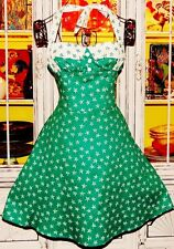 Betsey Johnson VINTAGE Dress SAILOR Green STARFISH Corset FIT & FLARE Star 2 S