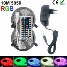 10M 5050 SMD 300 LED Strip Light RGB tape string lamp 44Key Remote 12V Power Kit