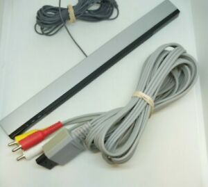 OEM Official Nintendo Wii Sensor Bar RVL-014 and AV Cord RVL-009