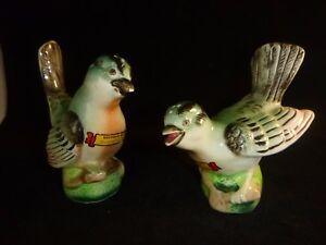 Vtg Teal Green Birds Salt & Pepper Shakers Japan
