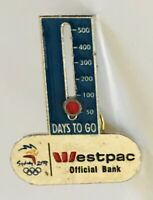 Westpac Days To Go Official Bank Of 200 Olympics Pin Badge Rare Vintage (R9)