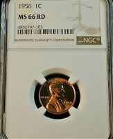 1956 Lincoln Cent NGC MS 66 RD GREYSHEET = $30.00                     #155