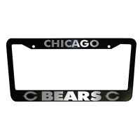 2 UNITS Chicago Bears Black Plastic License Plate Frame Truck Car Van