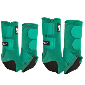 Classic Equine Horse Front Hind Boots Classic Legacy System Emerald Green U-02EM