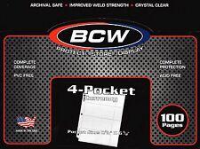 300 NEW 4 Pocket Pages for Currency Regular Dollar Bills - 3 Ring Binder Sheets