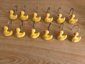 Lot Of 12 Duck Shower Curtain Hooks