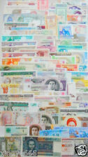 102 Different world paper money collection, UNC, new banknotes.