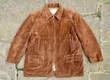 Vintage 60s Hércules abrigos Sears Edredón Forrado Abrigo Chaqueta corta de Coche Cable Marrón XL