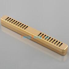 1 pc x New Gold Color Rectangular Tobacco Smoking Cigar Humidor Humidifier