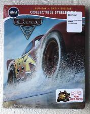 Disney Cars 3 Blu Ray Steelbook