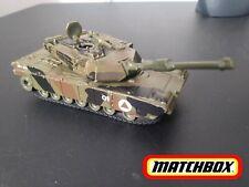 Matchbox 2009 Abrams M1A1 Tank Full Function turret Jungle Green Camo