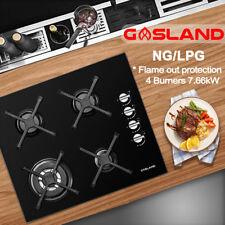 GASLAND chef GH60BS 60cm Built-in 4 Burner Gas on Glass Hob/Cooker/Cooktop Black