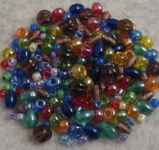 220+ RAINBOW BRIGHTS LOOSE GLASS BEADS MIX Czech+ Lot B