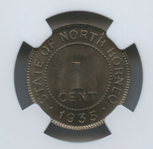1935 H British North Borneo Cent NGC MS 66 Gorgeous Hard To find Coin