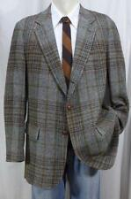 Vintage 60s TAILORMANN Plaid Tweed Sport Coat/Blazer 42R 3/2 Roll Sack