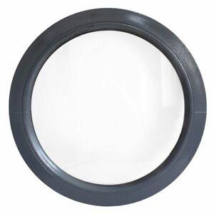 Oeil de boeuf fixe gris anthracite 50 55 60 65 70 80 90 100 110 120 cm fenêtre