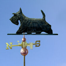 Scottish Terrier Hand Carved Hand Painted Basswood Dog Weathervane Brindle