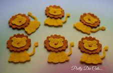 Felt Lions (pack of 6) Die Cut Wild Animal Craft Embellishments