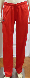 CHAMPION Women's Knit Jogger Pant, Red / White, Small, NWOT