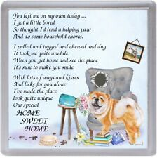 "Chow Chow Dog Coaster ""HOME SWEET HOME Poem ......"" Novelty Gift by Starprint"