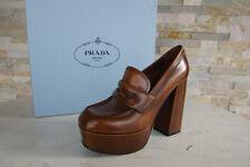 Prada 38,5 Pumps Plateau Schuhe Heels Antik 1D943H braun tabak neu ehem.UVP 750€