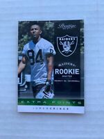 2012 Playoff Prestige Extra Points Green /25 Juron Criner #278 Rookie