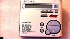 VINTAGE SONY MD MINIDISC WALKMAN RECORDER MZ-R70, silver color