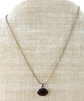Red Abalone Shell Pendant Necklace Sterling Silver 925 Thailand Italy Chain