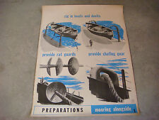 1944 WWII Navy Training Posters, Complete Set of 11, How To Dock a Ship Original