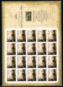 US #4805. War of 1812. Battle of Lake Erie. 2013. Pane of 20,  2020 CV $22.