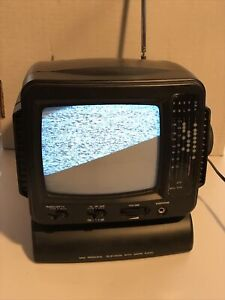 Portable mini personal Television with AM/FM Radio. Tested And Works