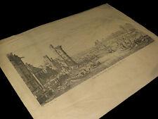 CALLOT (Jacques) -  [Eau-forte :] Vue du Louvre,  avec la Tour de Nesle.